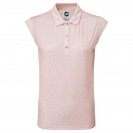 FootJoy Cap Sleeve Print Interlock dámské golfové tričko