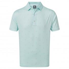 FootJoy Smooth Pique FJ Tonal Print pánské golfové tričko