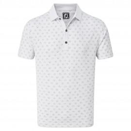 FootJoy Smooth Pique Weather Print pánské golfové tričko