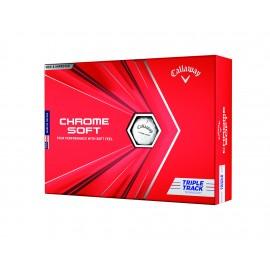 Callaway Chrome Soft 20 Triple Track golfové míčky bílé, 12 ks