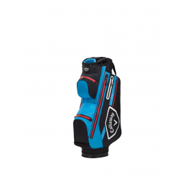 Callaway Chev Dry 14 Cart Bag - Black/Cyan/Fire Red