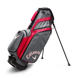 Callaway X Series Stand Bag - Red/Titanium/White