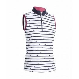 Callaway Birdie Stripe Sleeveless dámské golfové tričko