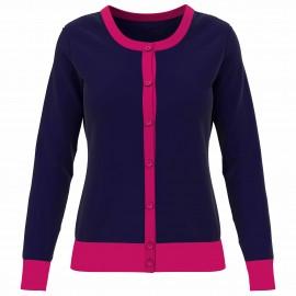 Callaway Colourblock Cardigan dámský golfový svetr
