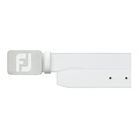 FootJoy White Leather Belt