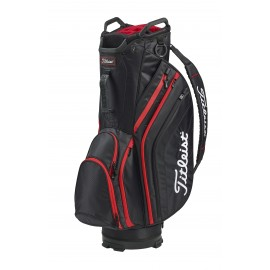 Titleist Lightweight Cart Bag - Black/Black/Red