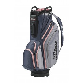 Titleist Lightweight Cart Bag - Charcoal/Sleet/Pink