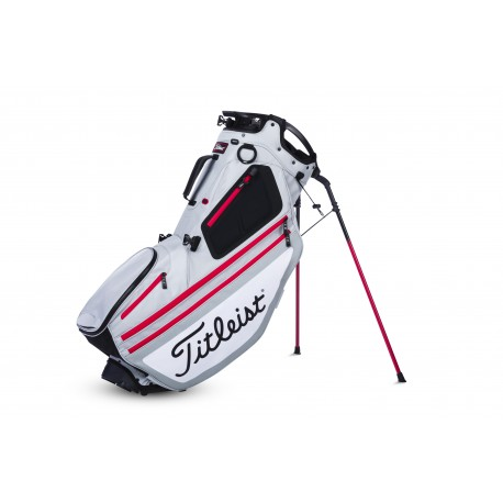 Titleist Hybrid 14 Stand Bag - Silver/White/Red