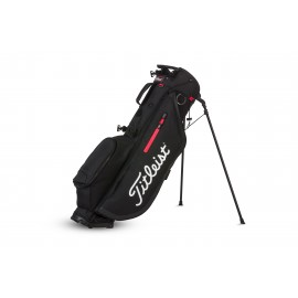 Titleist Players 4 Stand Bag - Black/Red