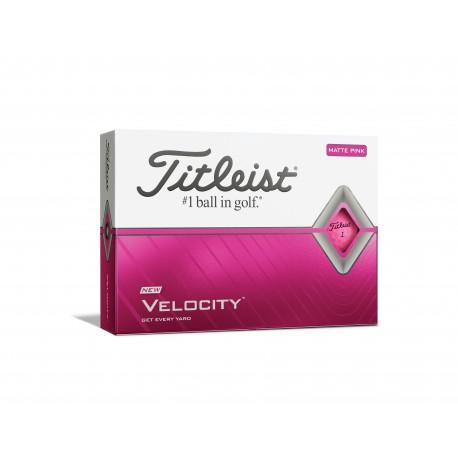 Titleist Velocity golfové míčky růžové, 12 ks
