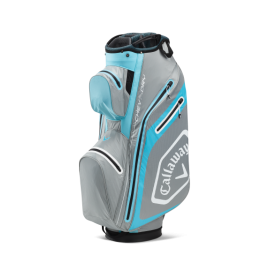 Callaway Chev Dry 14 Cart Bag - Silver/Light Blue