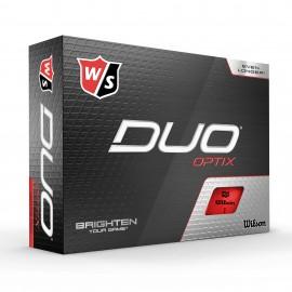 Wilson Staff Duo Optix golfové míčky červené, 12 ks
