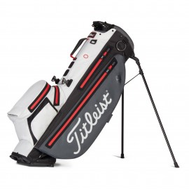 Titleist Players 4+ StaDry Stand Bag - Charcoal/White/Red